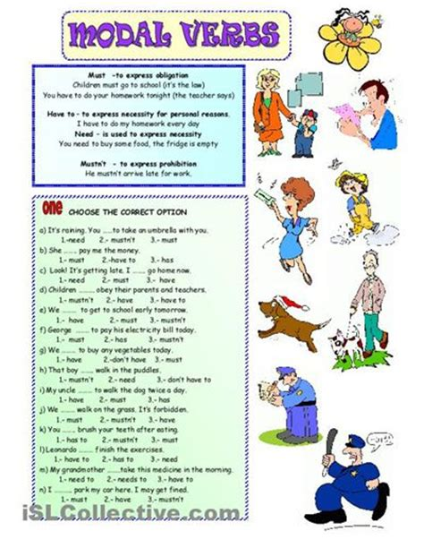 Exercise Worksheets by Modal Verb For Kid Exercise Worksheet Teaching The