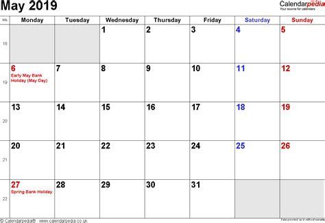 calendar  holidays uk calendar weekly printable