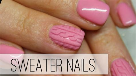 Sweater Nail Tutorial