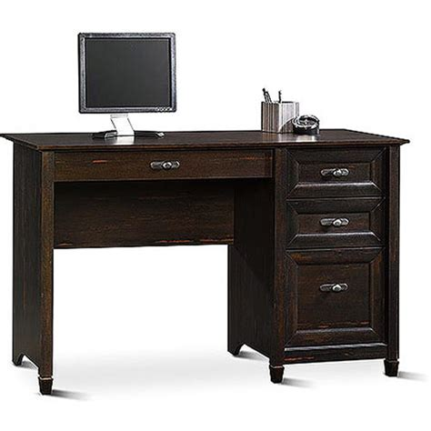 Sauder New Cottage Desk Antiqued Black Paint Walmart Com Office Desk At Walmart