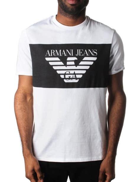 S S T Shirts armani block logo s t shirt