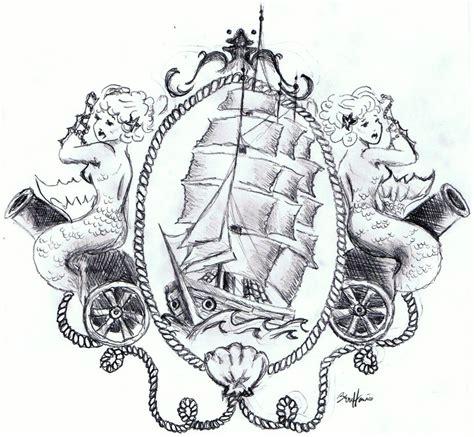 old school mermaid tattoo designs school on sailor tattoos ship