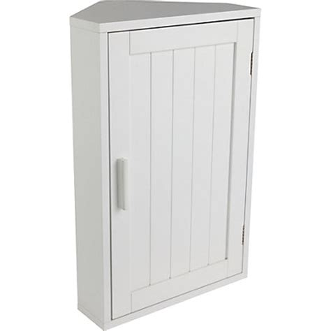 white wooden corner bathroom cabinet