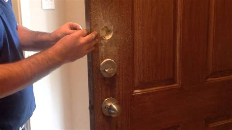 How To Install A Lock On A Door by How To Installing Keyless Deadbolt One Sided Deadbolt
