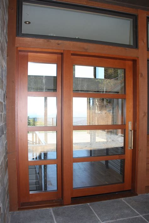 Wood Entry Doors With Glass Excellent Modern Entry Doors For Home With Solid Wood Textured Entry Doors Combined Silver