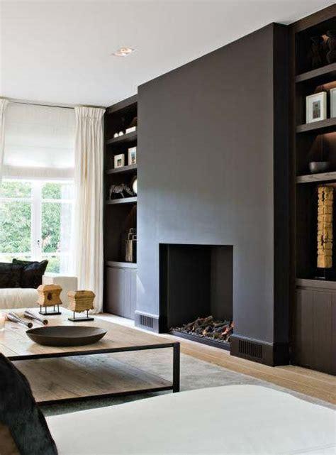 Modern Black Fireplace by 40 Fireplace Decorating Ideas Decoholic