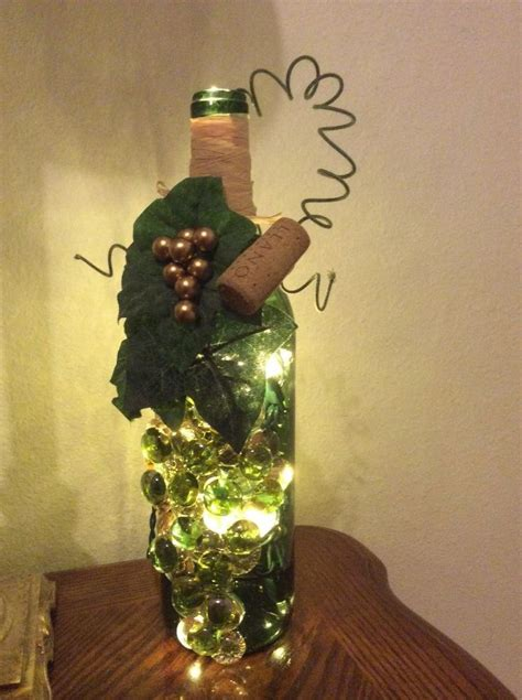 with light inside 1000 ideas about decorated wine bottles on