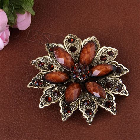 cheap cheap vintage jewelry resin flower shape brooches