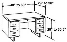 average desk size typical furniture measurements for reference woodworking
