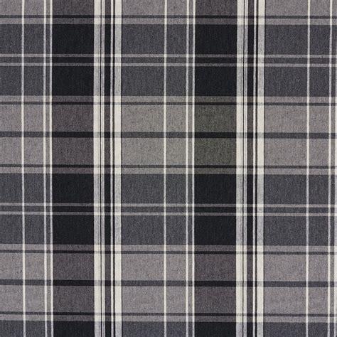 Kemeja Flannel Tartan Brown White onyx black and gray plaid damask upholstery fabric