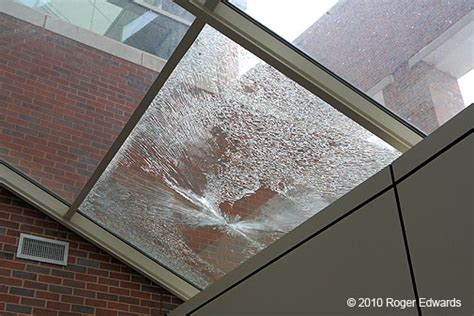 Window In Ceiling ice damage at the national weather center skypix