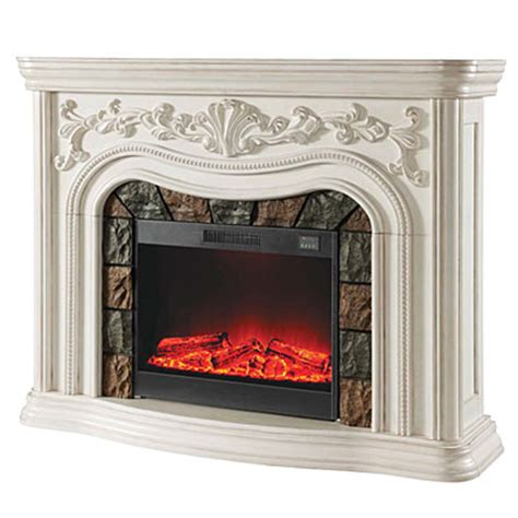 Big Lots White Fireplace by 62 Quot Grand White Electric Fireplace Big Lots