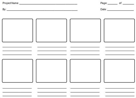 storyboard template word 6 education storyboard templates doc pdf free