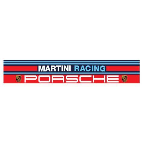 Porsche Martini Aufkleber by Martini Racing Porsche 130 X 22 Cm Sonnenschirm Aufkleber