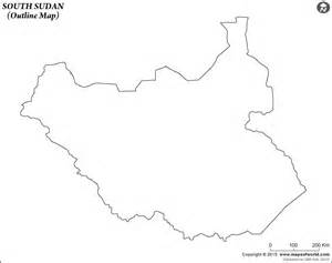 Blank Map Of Sudan by Blank Map Of South Sudan South Sudan Outline Map