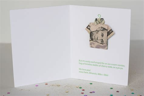Cool Origami Birthday Cards - birthday week money origami shirt birthday cards live