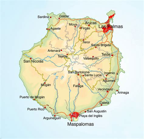 printable map gran canaria kaart gran canaria rogerlangfordart