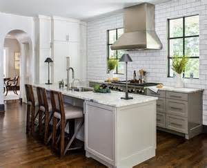 gray kitchen cabinets with satin nickel cup pulls kitchens without upper cabinets scout amp nimble