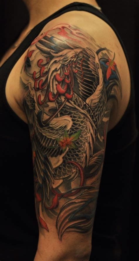 quarter sleeve tattoo length phoenix half sleeve tattoo men s tattoo s pinterest