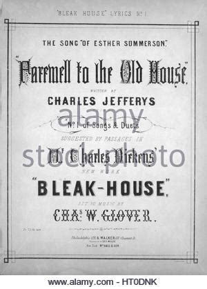 old house music songs bleak house by charles dickens illustration by phiz hablot knight stock photo