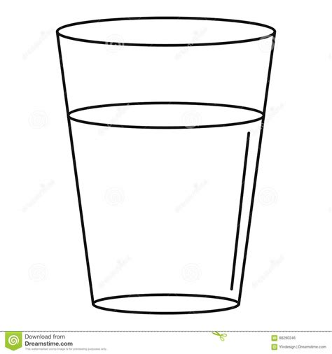 Glass Outline by Glass Outline Coloring Pages