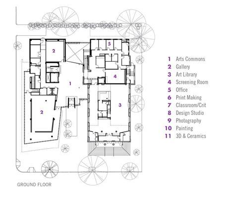 floor plan art lunder arts center bruner cott associates archdaily