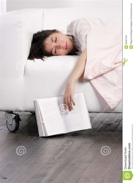 having on the sofa woman having nap royalty free stock image image 20461126