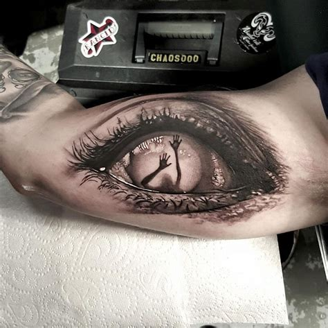 creepy tattoo designs collection of 25 eye coffin design