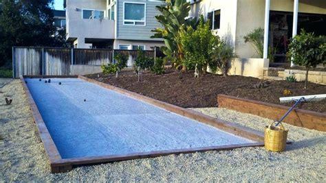 backyard bocce ball court dimensions bocce court size modern landscape by landscape