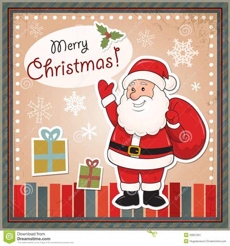 imágenes de santa claus de navidad tarjeta de navidad del vintage con santa claus ilustraci 243 n