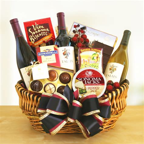 california creations wine gift basket gift baskets by