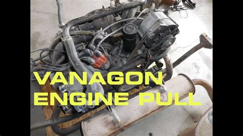 vanagon engine pull subaru vanagon engine swap part  youtube