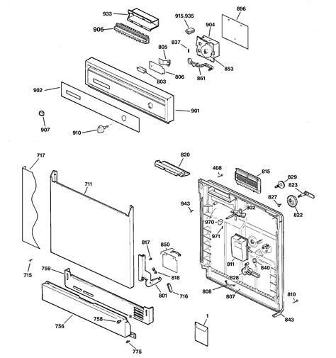 hotpoint dishwasher parts diagram hotpoint dishwasher parts model hda3400g02ww sears