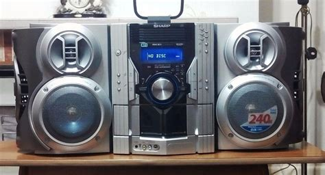 mini stereo system with cassette player sharp 240w hi fi stereo system 5 tray cd changer and 2