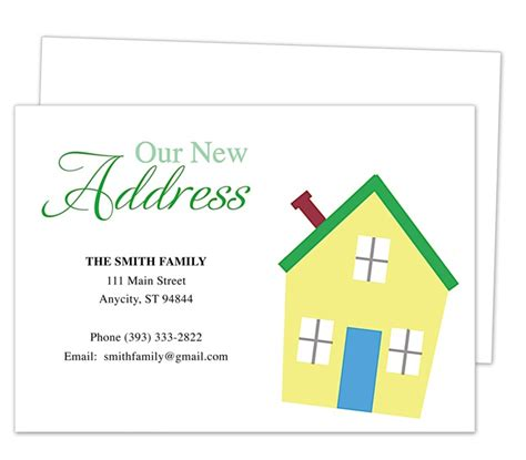 Moving Cards Templates by Pin By Carole Galassi On Moving Announcements New Address