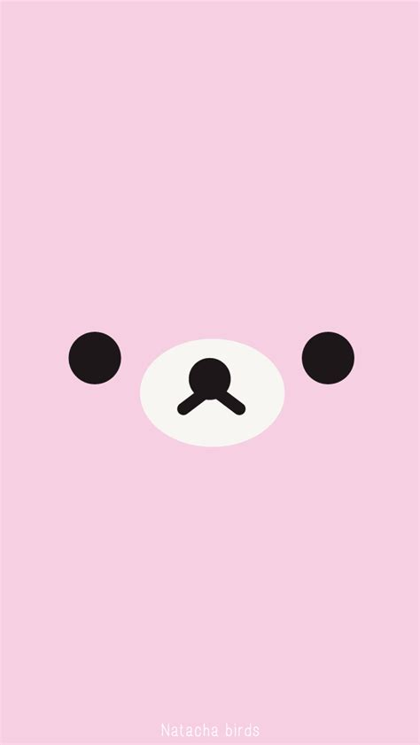 kawaii wallpaper pink natacha birds rilakkuma iphone wallpaper iphone