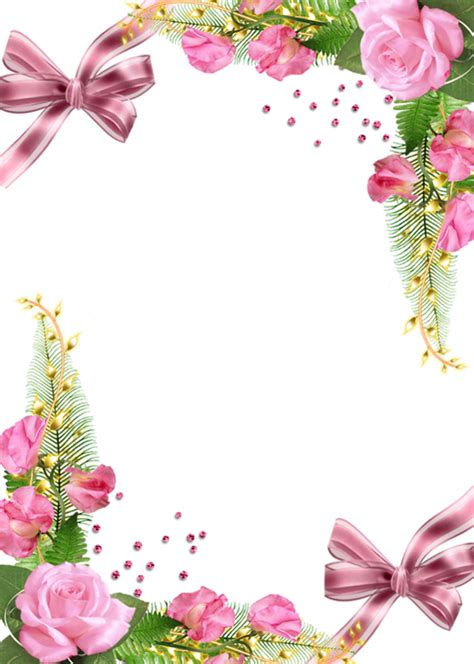 cute png photo frame with pink roses the dark lady