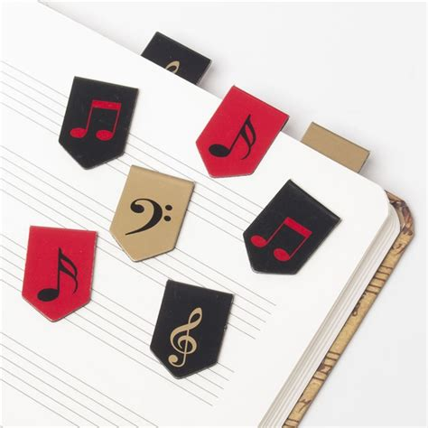 Magnetic Bookmark notes clefs magnetic bookmarks from the stand