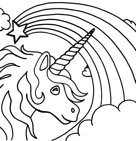 printable coloring pages for coloring pages free printable unicorn coloring pages for