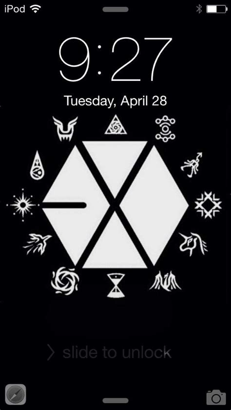 exo logo pattern lock your lock and home screen k pop amino