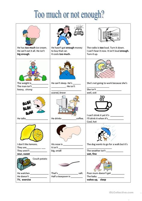 Grammar Shows Us How Its Done by Much Or Not Enough Worksheet Free Esl Printable