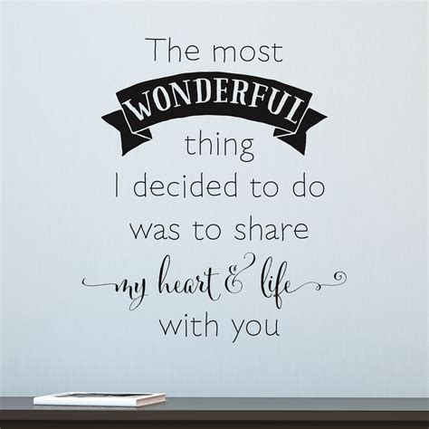 the most wonderful thing share my heart life wall quotes decal wallquotes com