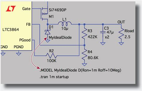 ltspice diode model solutions ltspice simple idealized diode