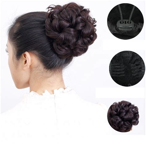 synthetic hair updo styles 1pcs synthetic donut roller hairpieces chignon flower fake