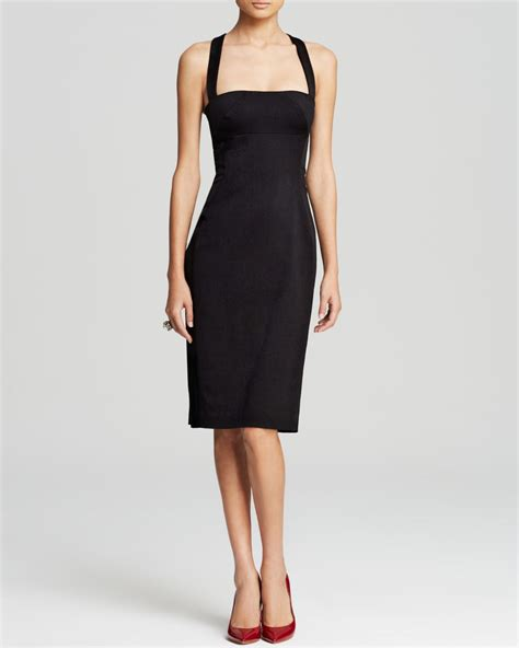 Dress Square Black black halo dress bryson sleeveless square neck sheath in black lyst
