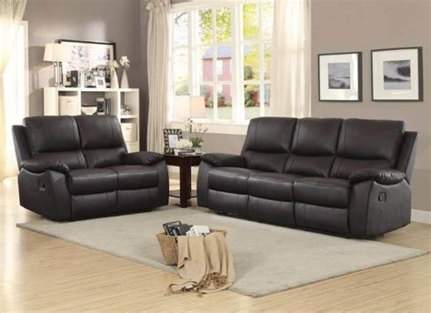 homelegance brw greeley brown top grain leather double reclining sofa set pc brw