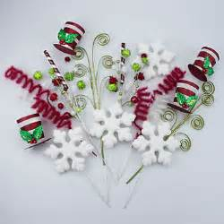 decorative holiday tree picks snowflakes sam s club
