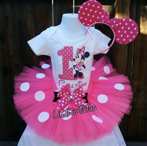 Set Tutu Minnie by Handmade Pink Minnie Mouse Tutu Set