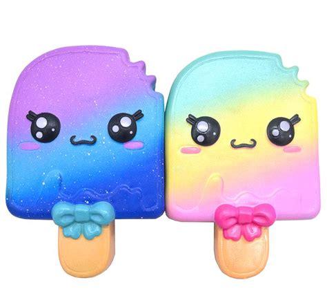 Rainbow Galaxy Moon Bun Squishy kiibru rainbow galaxy kawaii popsicle scented