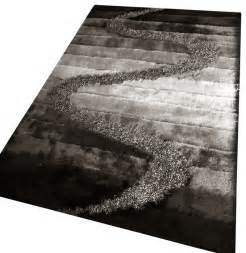 black grey living room shaggy area rug black gray 4 x 6